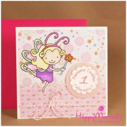 Χειροποίητη κάρτα γενεθλίων νεογέννητο