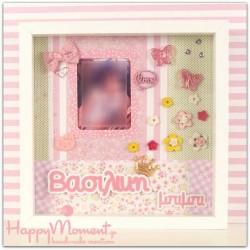 χειροποίητη κορνίζα με πεταλούδες -happymoment.gr